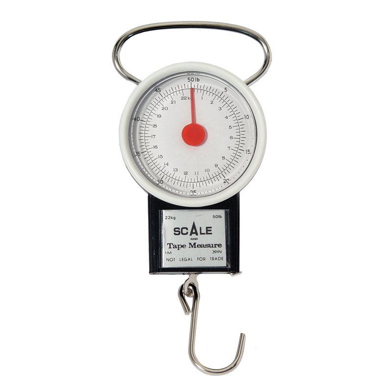 SCALE AND TAPE MEASURE- 50LB/22KG