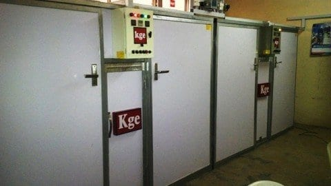 120M-Series KGE Egg Incubator Powered by Kerosene/Gas and Electricity with Optional Solar Power