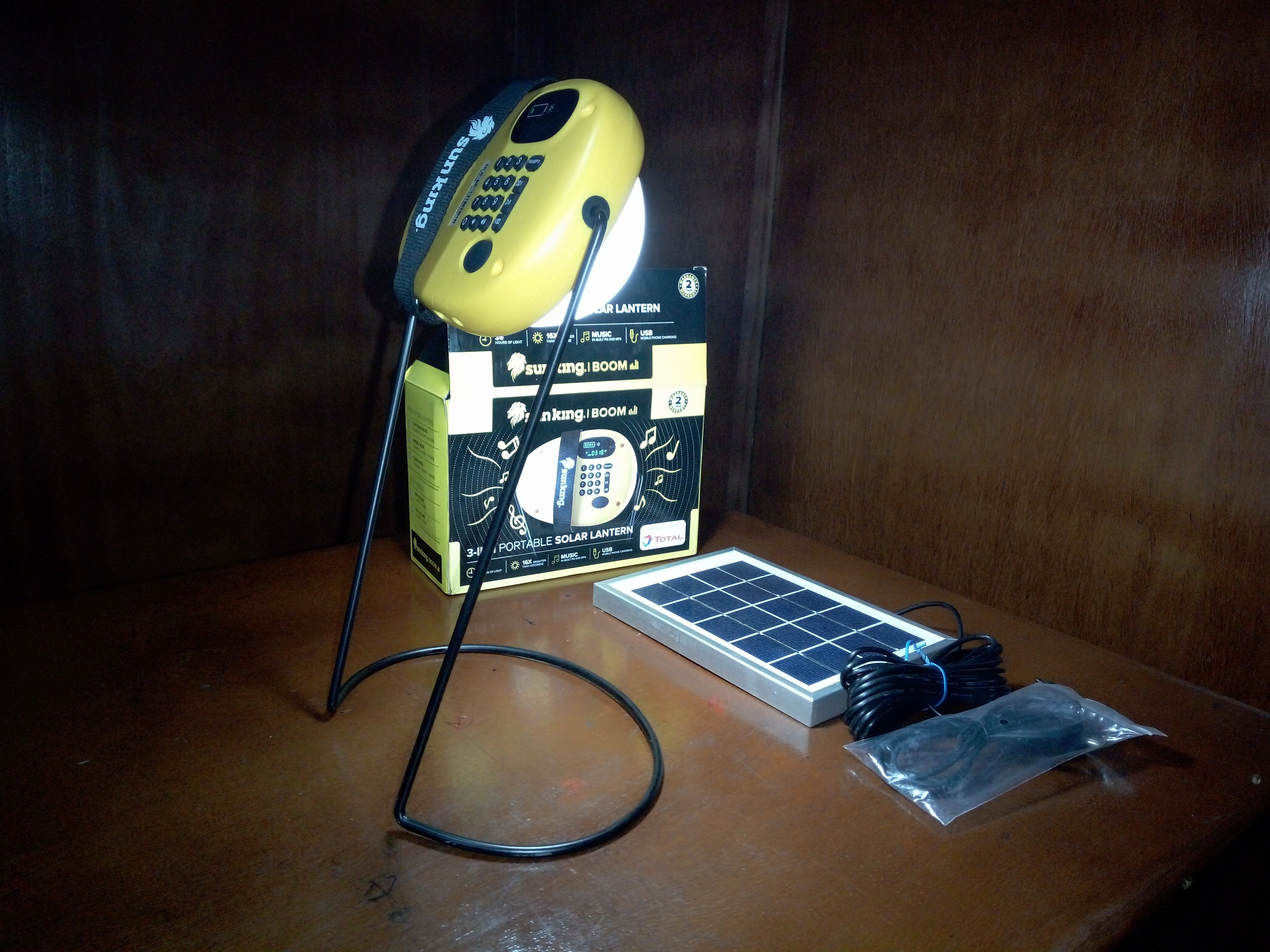 Portable Solar Lantern (In-Built Radio And Phone Charger)