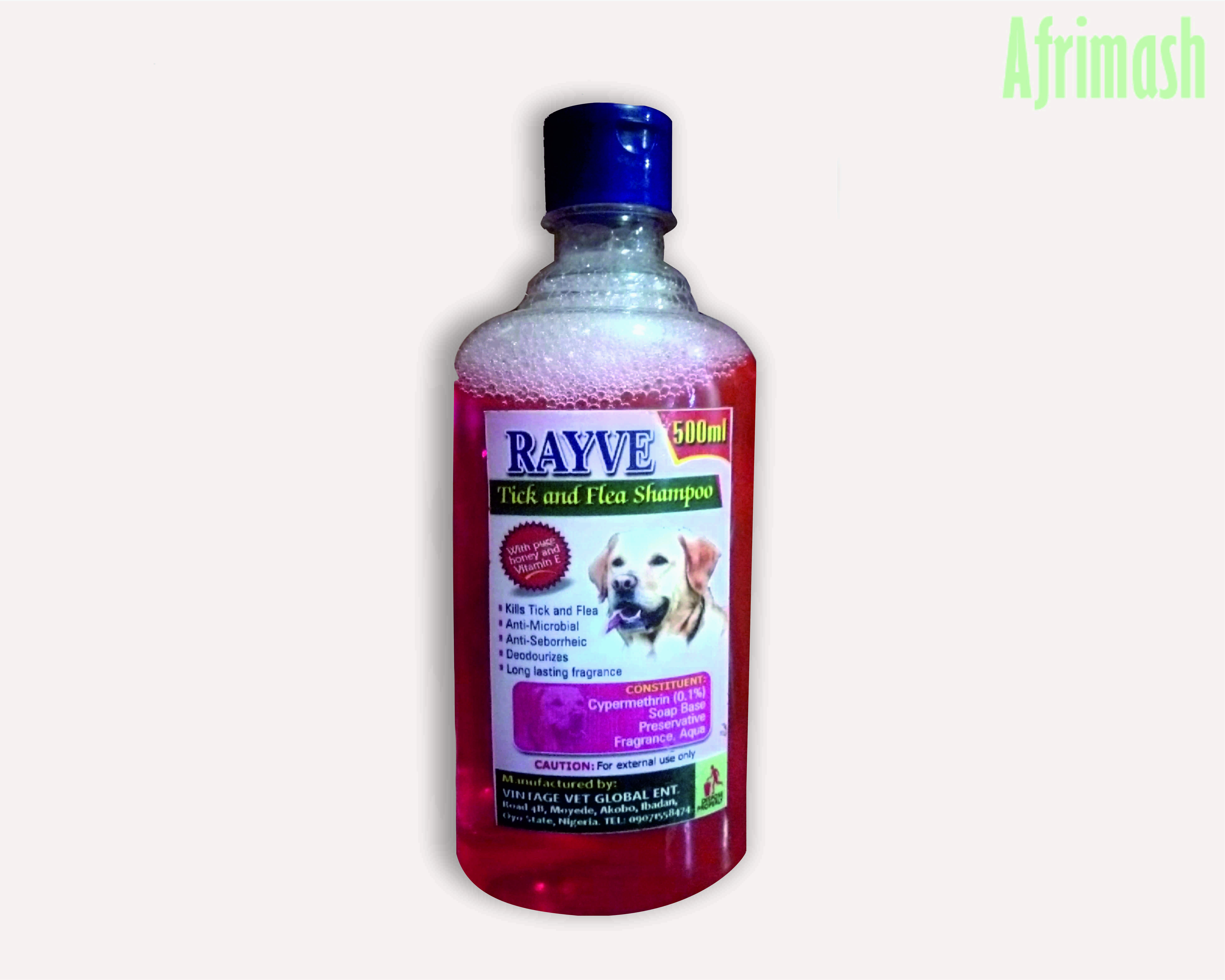 Rayve tick and flea shampoo