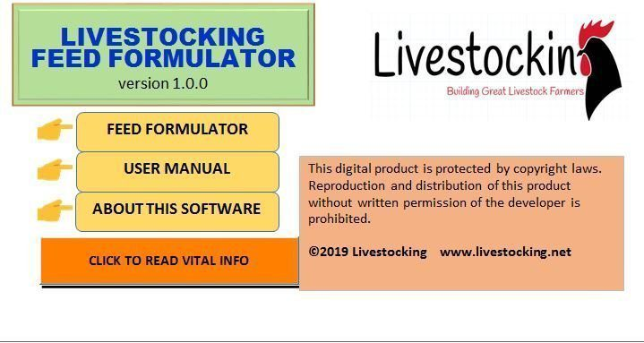 LIVESTOCKING FEED FORMULATOR