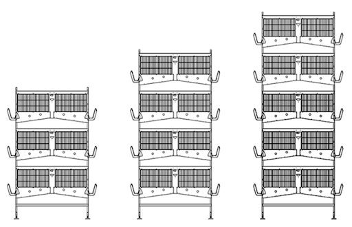 H-type battery cage