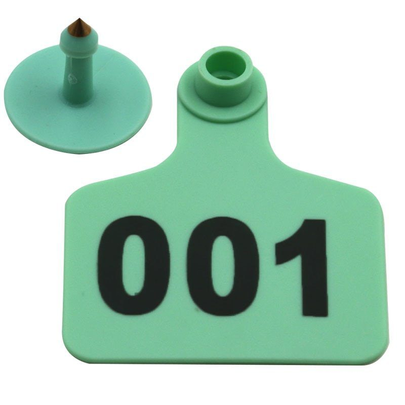 100PC Cow Cattle TPU Ear Tag Signs With Word Ear Tags Typing Copper Head Earrings Farm 1