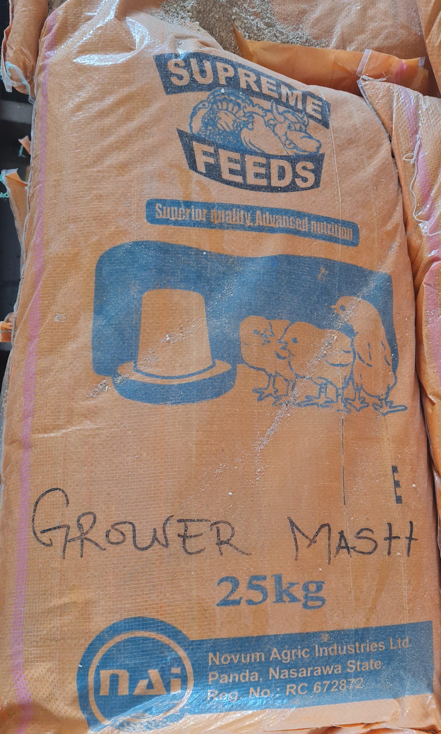 supreme feeds grower mash