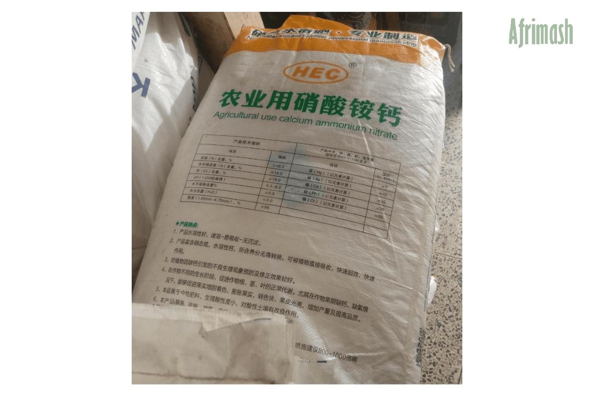 HEC calcium ammonium nitrate