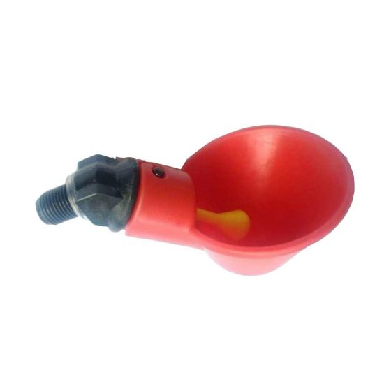 Chicken nipple drinker with drip cups